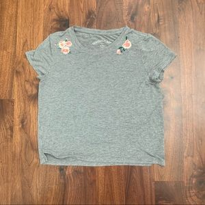 Aeropostale seriously soft grey crop top